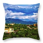 Santa Fe New Mexico Throw Pillow