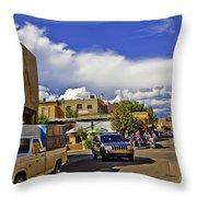 Santa Fe Plaza 2 Throw Pillow