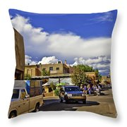 Santa Fe Plaza 2 Throw Pillow