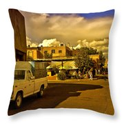 Santa Fe Plaza Throw Pillow
