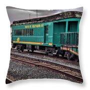 Santa Fe Rail Yard Throw Pillow