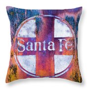 Santa Fe Rr Throw Pillow by Lou Novick