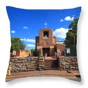 Santa Fe - San Miguel Chapel 6 Throw Pillow