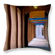 Santa Fe Sidewalk Throw Pillow