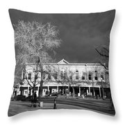 Santa Fe Town Square Throw Pillow