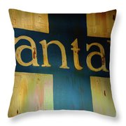 Santa Fe Vintage Sign Throw Pillow