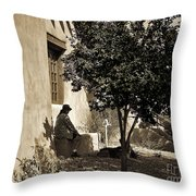 Santa Fe Woman  Throw Pillow