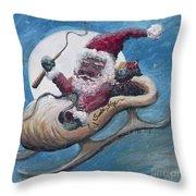 Santa Hog Throw Pillow