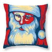 Santa Hope Throw Pillow