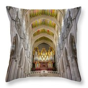 Santa Iglesia Catedral De Santa Maria La Real De La Almudena Throw Pillow