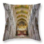 Santa Iglesia Catedral De Santa Maria La Real De La Almudena Throw Pillow