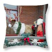Santa Is Watching You Throw Pillow