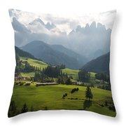 Santa Maddalena - Italy Throw Pillow