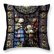Santa Maria De Montserrat Abbey 2 Throw Pillow