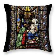 Santa Maria De Montserrat Abbey Throw Pillow