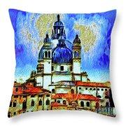 Santa Maria Venice Throw Pillow