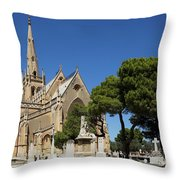 Santa Marija Addolorata Chapel  Throw Pillow