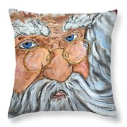 Santa - Merry Christmas Art Throw Pillow