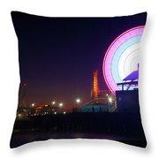 Santa Monica - Ferris Wheel Throw Pillow