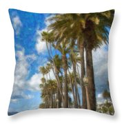 Santa Monica Ca Palisades Park Bluffs  Throw Pillow
