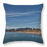 Santa Monica From Pier Throw Pillow