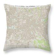 Santa Rosa California Us City Street Map Throw Pillow