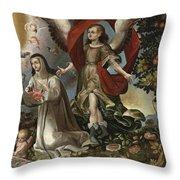 Santa Rosa De Lima Throw Pillow