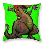 Santa Saurus Rex Throw Pillow