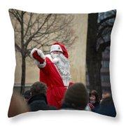 Santa Says Hello Throw Pillow