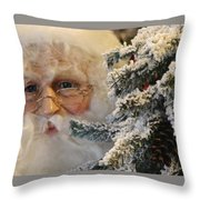Santa Sees You Throw Pillow