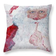 Santa Shhhh Throw Pillow