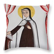 Santa Teresa De Avila - St. Teresa Of Avila - Aotda Throw Pillow
