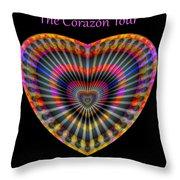 Santana The Corazon Tour Throw Pillow by Visual Artist Frank Bonilla