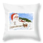 Santas Beard Throw Pillow