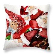 Santas Throw Pillow by Dana Patterson
