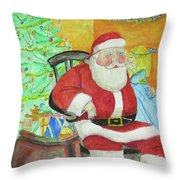 Santas Secret Throw Pillow