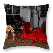 Santa's Sleigh Throw Pillow