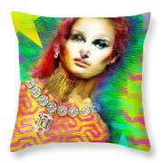 Santhia Aura Throw Pillow