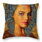 Santia Gold And Silver Throw Pillow