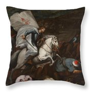 Santiago At The Battle Of Clavijo Throw Pillow