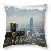 Santiago Chile Panoramic Throw Pillow