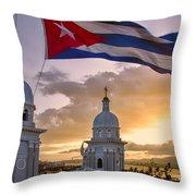 Santiago De Cuba Dusk Throw Pillow