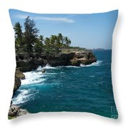 Santo Domingo Coastal View. Throw Pillow