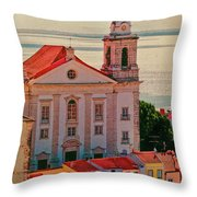 Santo Estevao Church Throw Pillow