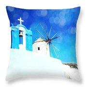 Santorini 1 Throw Pillow