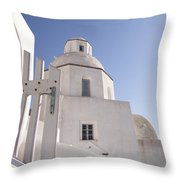 Santorini Church #6 Throw Pillow
