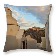 Santorini Dome Church Throw Pillow