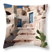 Santorini Entryway Throw Pillow
