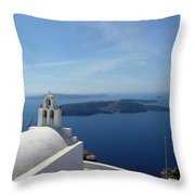 Santorini Greece Throw Pillow