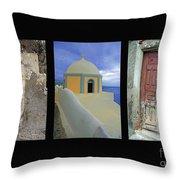 Santorini Memories Throw Pillow